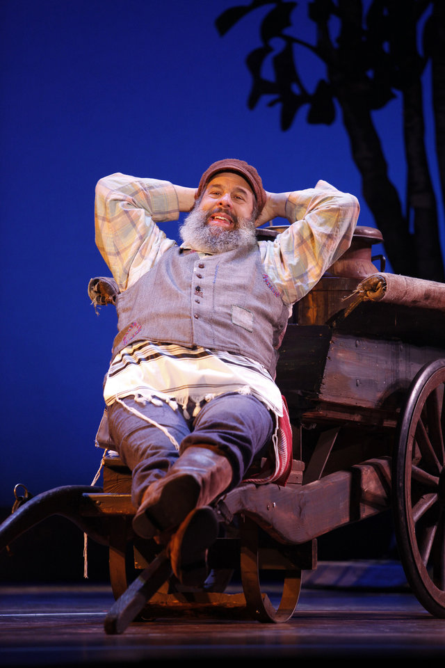 "John Preece as Tevye the milkman in ""Fiddler on the Roof""   Photo by Carol Rosegg <strong>Photo by Carol Rosegg</strong>"