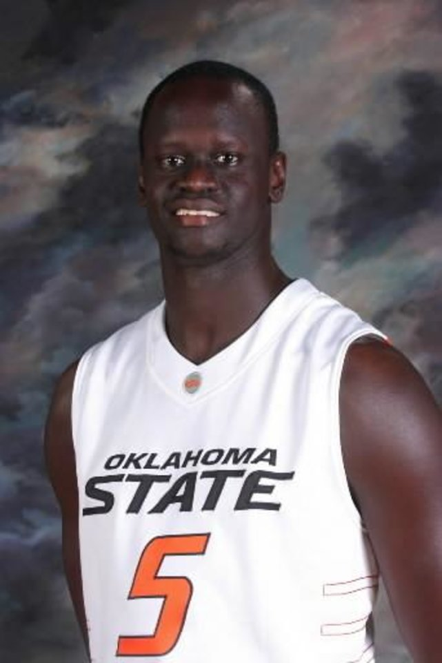Teeng  Akol with the 2008-09 Oklahoma State University (OSU) Cowboys men's college basketball team. Mug shot. Provided by Oklahoma State University