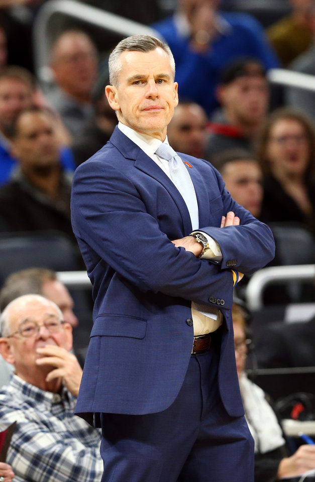 Photo - Jan 22, 2020; Orlando, Florida, USA; Oklahoma City Thunder head coach Billy Donovan looks on against the Orlando Magic during the first half at Amway Center.  [Kim Klement/USA TODAY Sports]