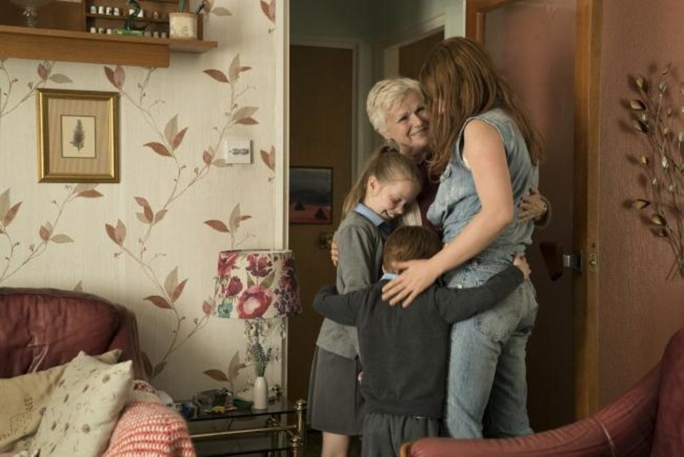 Photo -  Clockwise, from right: Jessie Buckley, Adam Mitchell, Daisy Littlefield and Julie Walters star in