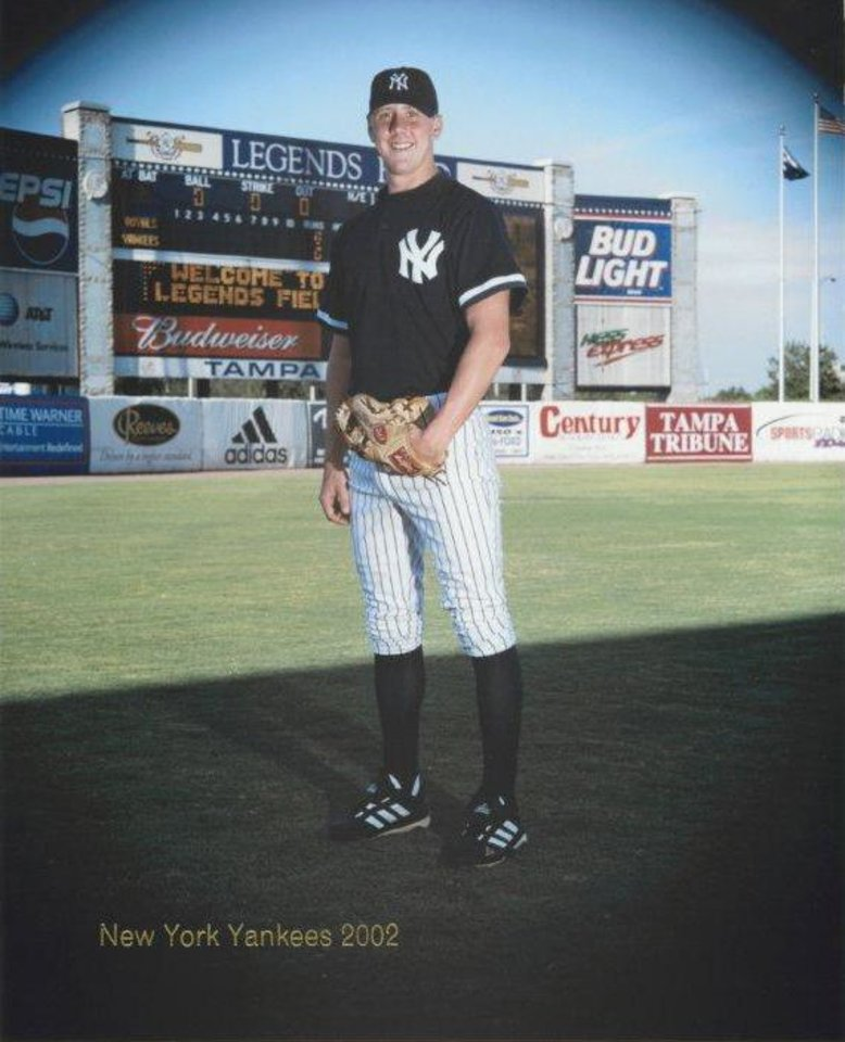 Brandon Weeden in 2002, during his time in the Yankees' system. PHOTO PROVIDED