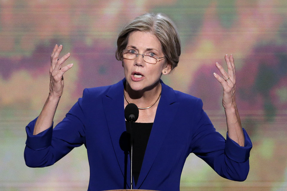 Photo - Senate candidate from Massachusetts Elizabeth Warren addresses the Democratic National Convention in Charlotte, N.C., on Wednesday, Sept. 5, 2012. (AP Photo/J. Scott Applewhite)  ORG XMIT: DNC174