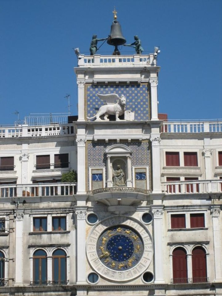 Photo -  Giant Moors strike the hour on the Clock Tower at Piazza San Marco.