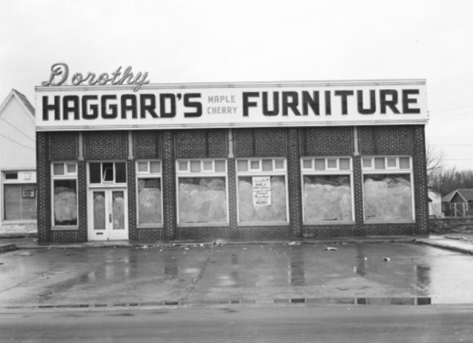 Photo - The building at 1732 NW 16 is shown in this undated photo when it was home to Haggard's Furniture.  Oklahoma Historical Society