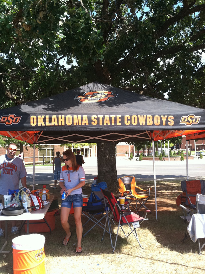 Cowboys Tailgate: Playing Hookey's OSU Tent