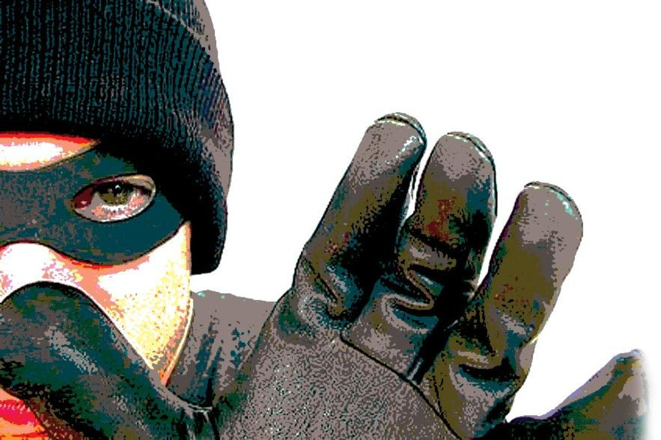 Photo - AVOID ONLINE FRAUD / FRAUDULENT E-MAILS / SCAMS / THIEF / MASKED ROBBER / CLIP ART