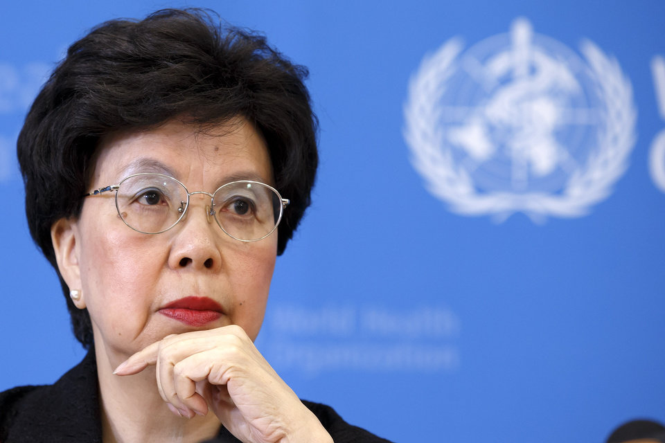 Photo - Director General of the World Health Organization, WHO, China's Margaret Chan informs to the media after an emergency meeting on Ebola during a press conference at the headquarters of the WHO in Geneva, Switzerland, Friday, Aug. 8, 2014. (AP Photo/Keystone, Salvatore Di Nolfi)