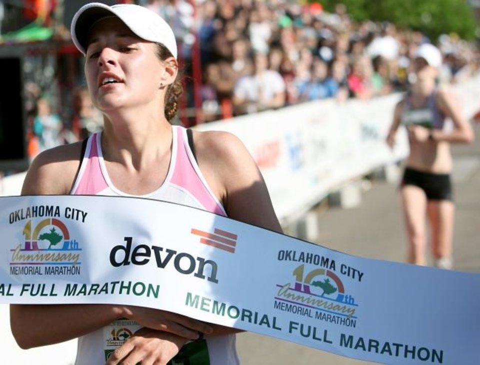 Photo -  Catherine Lisle took first place during the 2010 marathon in Oklahoma City. [OKLAHOMAN ARCHIVES]