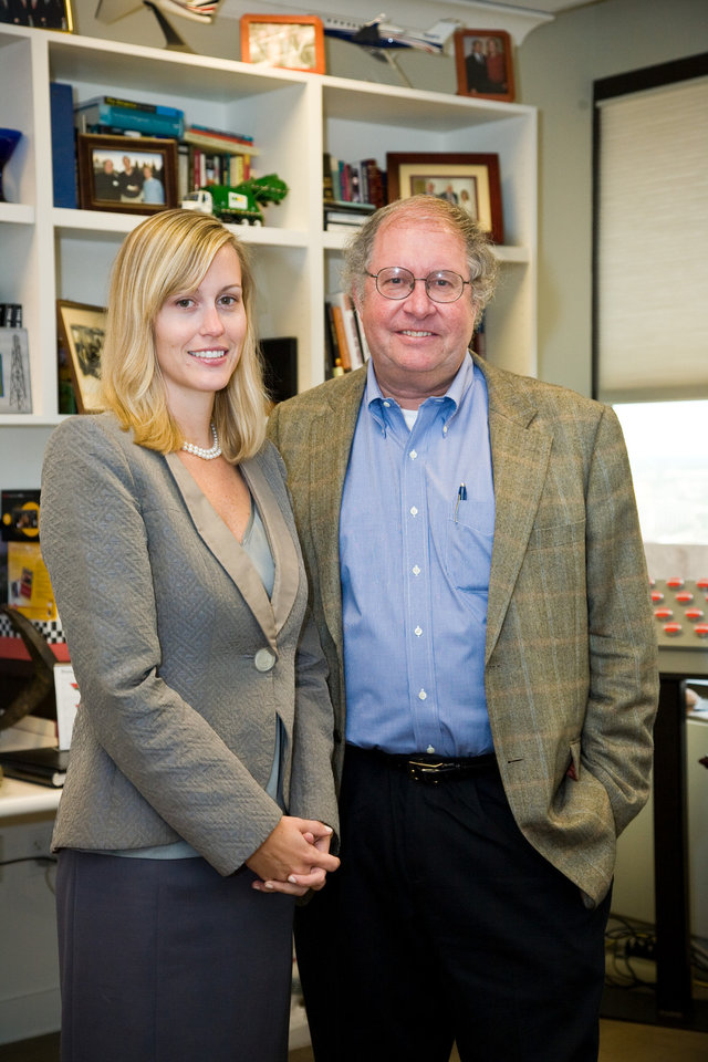 This undated photo shows  portfolio managers Samantha McLemore, left, and Bill Miller, right,  of the Legg Mason Capital Management Opportunity Fund. Legg Mason Capital Management Opportunity was the top-performing U.S. diversified stock mutual fund of 2012, with a return of 39.6 percent. That's more than double the 16 percent return of the Standard & Poor's 500 index. (AP Photo/Legg Mason Capital Management)