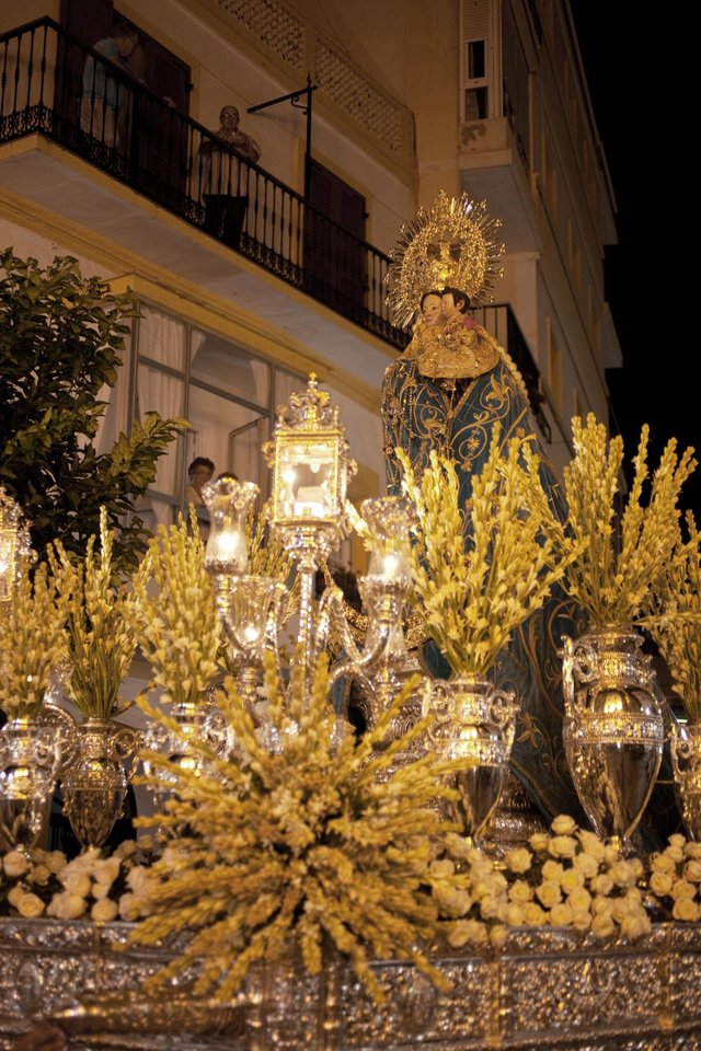 Photo -  In Spain's Andalucia, religious floats commonly parade through town. (Dominic Bonuccelli/Rick Steves' Europe)   [