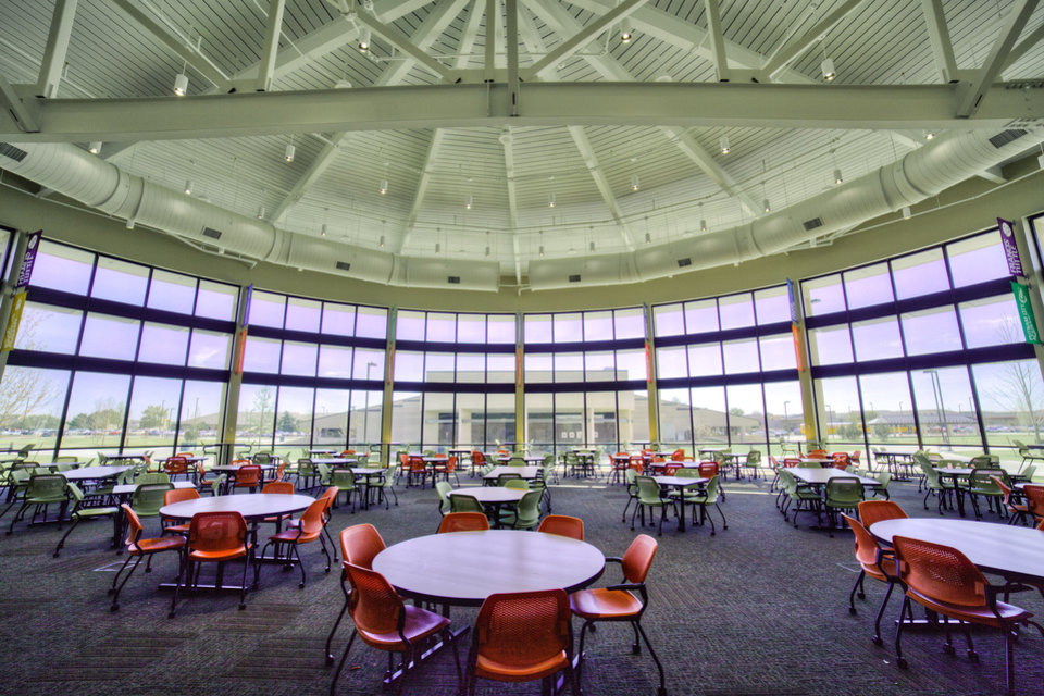 A view of District 21, the restaurant at the Culinary Arts Center at Francis Tuttle Technology Center, 12777 N Rockwell Ave., designed by Bockus Payne Associates Architects. <strong> - PROVIDED BY BOCKUS PAYNE ASSOCIA</strong>