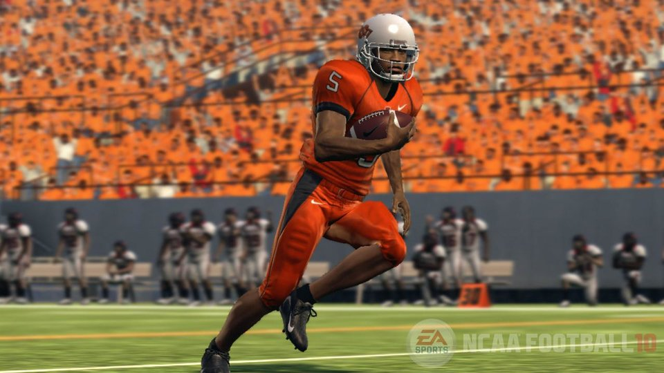 The Oklahoman's simulation of the 2009 college football season on EA Sports' NCAA Football 10 yielded a 9-3 season for Oklahoma State. PHOTO COURTESY OF EA SPORTS
