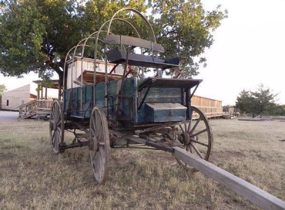 Photo - A chuckwagon and other historic ranching equipment will be offered at auction Saturday in Davis by Vic Garrett, who needs to raise money to work through financial problems stemming from the failure of First National Bank in Davis.   - PROVIDED BY ARBUCKLE WILDERNESS