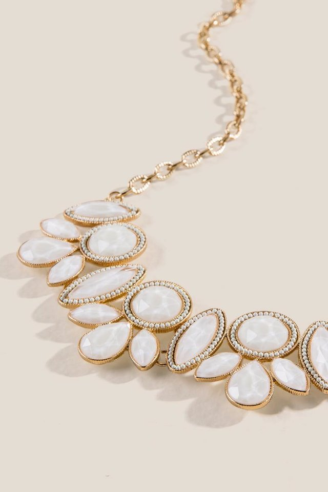 Photo - Taylor resin white statement necklace, $30, from Francesca's.
