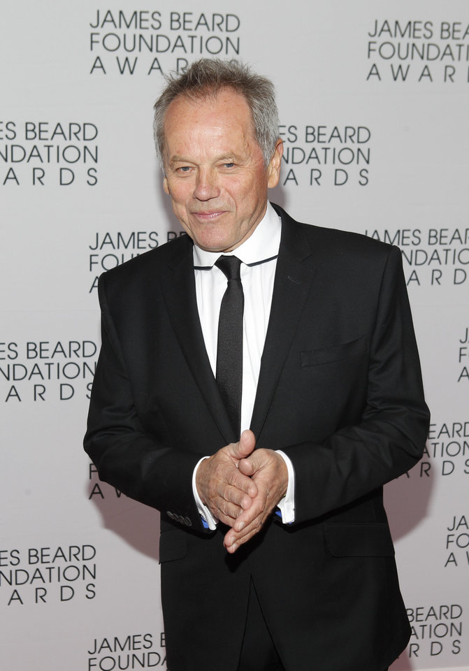 Photo -   Chef Wolfgang Puck arrives for the James Beard Foundation Awards, Monday, May 7, 2012, in New York. (AP Photo/Jason DeCrow)