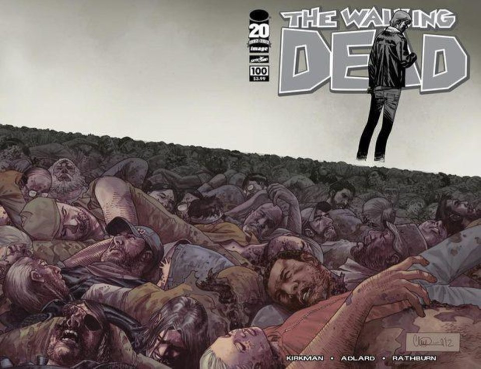 """The Walking Dead"" No. 100 is 2012's best-selling comic book. Image Comics. <strong></strong>"