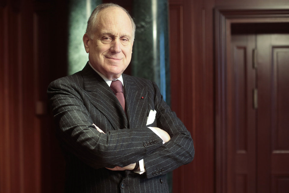 Photo - The president of the World Jewish Congress Ronald Lauder poses in a hotel room prior to an interview with The Associated Press in Berlin, Thursday, Jan. 30, 2014. Lauder says Germany must make a stronger effort to identify and return thousands of looted art pieces the Nazis took from the Jews. He told The Associated Press on Thursday that Nazi-looted art still hangs in German museums, government offices and private collections. Lauder says the country's legislation needs to be changed in order to facilitate its return. (AP Photo/Markus Schreiber)