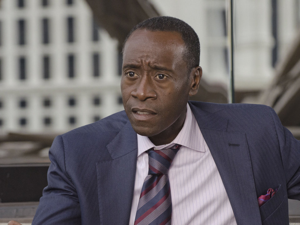 "Don Cheadle stars as Marty Kaan in ""House of Lies,"" which is back for its second season at 9 p.m. Sunday on Showtime. Showtime photo"