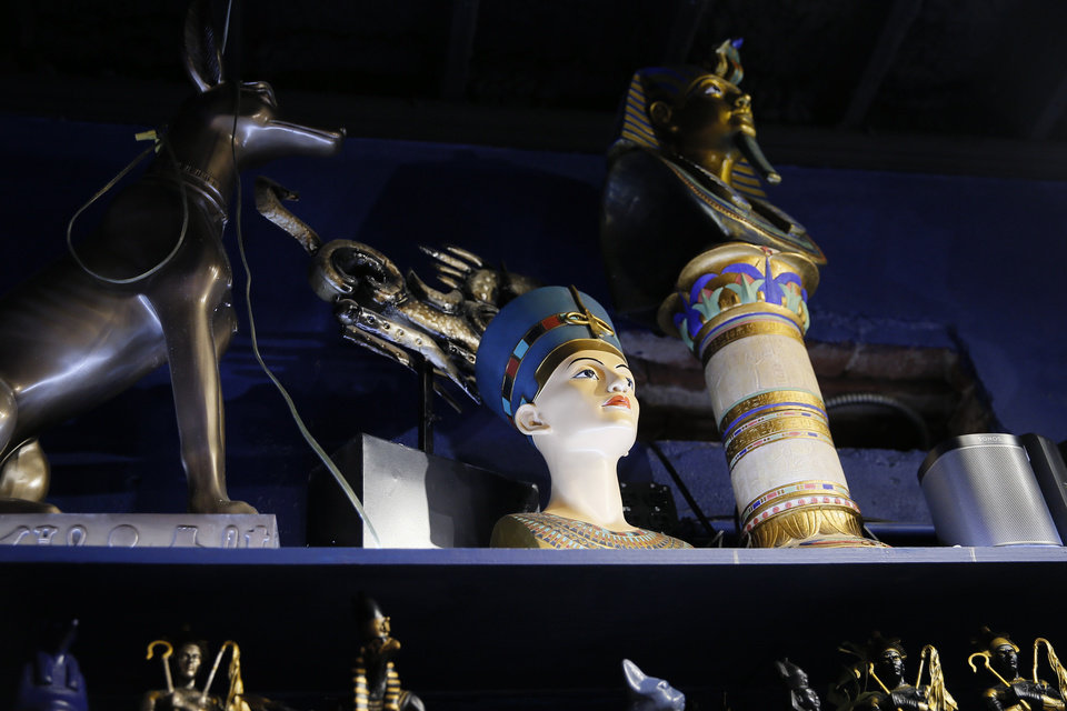 Photo -  Egyptian themed items for sale inside Craig's Curious Emporium in Oklahoma City, Wednesday, March 20, 2019. Photo by Bryan Terry, The Oklahoman