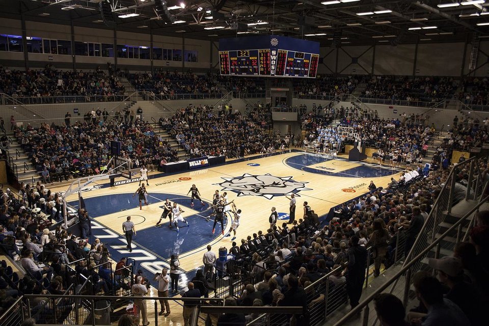 Photo -  Basketball action at Pioneer Cellular Event Center, a project of Southwestern Oklahoma State University and the city of Weatherford. PHOTO PROVIDED BY REGIONAL UNIVERSITY SYSTEM OF OKLAHOMA