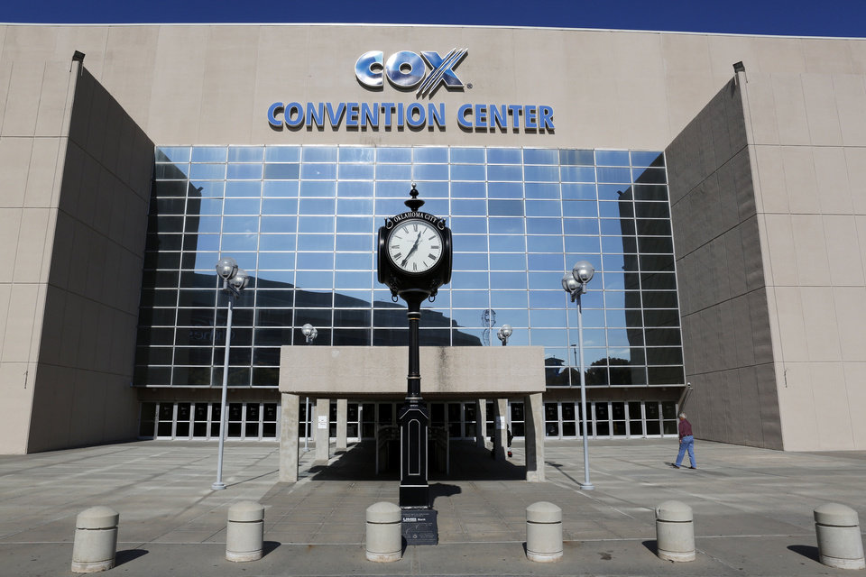 Photo - The south entrance to the Cox Convention Center is shown in this photo.  Steve Gooch