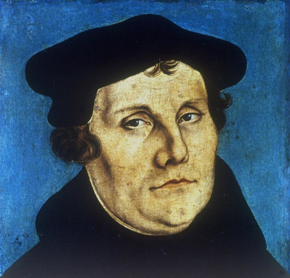 Photo -  Portrait of Martin Luther by Lucas Cranach the Elder [Oklahoman Archives photo]