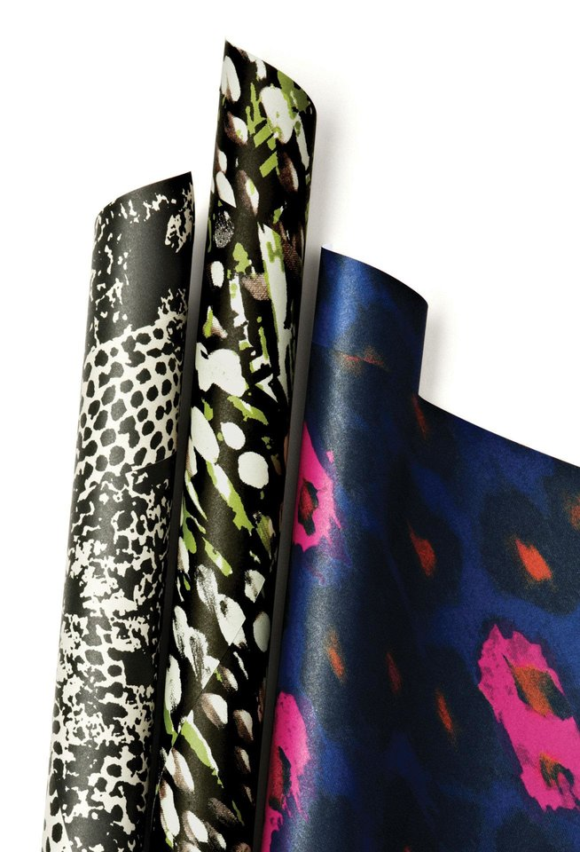 Photo - This product image released by One Kings Lane shows a selection of gift wrapping paper by stylist-designer Rachel Zoe. Zoe is among the tastemakers that partnered with the site for the One Kings Lane Holiday Charity Series. (AP Photo/One Kings Lane)   - AP