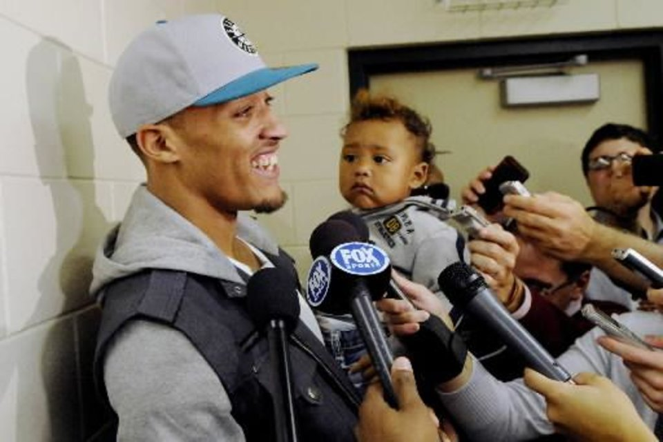 Put a microphone in Michael Beasley's face and there's no telling what you'll get.
