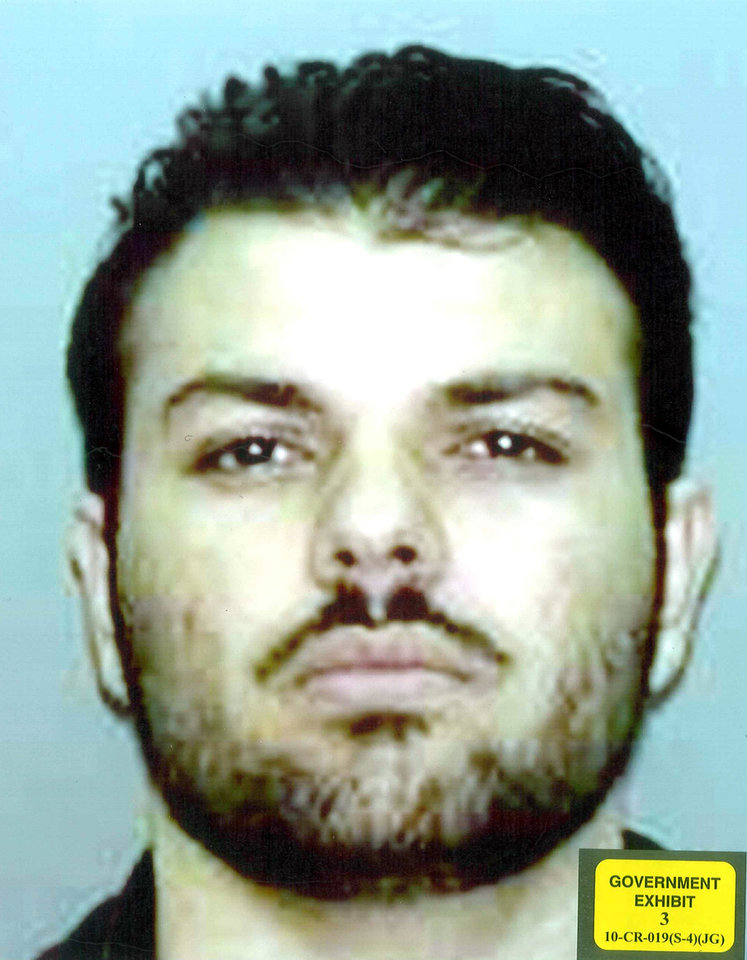 Photo -   This undated photo provided by the U.S. Attorney's Office in Brooklyn, N.Y., shows Zarein Ahmedzay. In his first public account, Ahmedzay testified Monday, April 16, 2012, in New York that Adis Medunjanin, accused of becoming an al-Qaida operative discussed bombing New York City movie theaters, Grand Central Terminal, Times Square and the New York Stock Exchange before settling on the city's subways, encouraged Ahmedzay to follow a more radical form of Islam. (AP Photo/U.S. Attorney's Office)