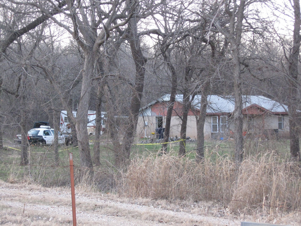 The home at 11805 Air Depot Blvd. where police say a man was found shot to death Wednesday afternoon. Photo by Matt Dinger, The Oklahoman