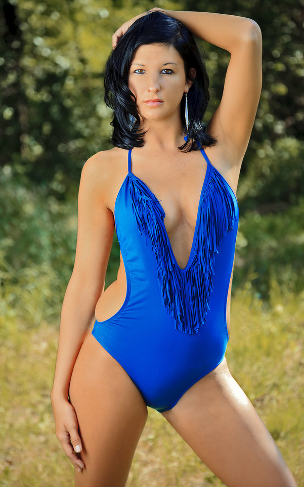 "Rosebrook Vineyards, Oklahoma City Swimsuit from L.A. Sun & Sport  <a href=""/article/3677677"">Vote for your favorite model now</a>"