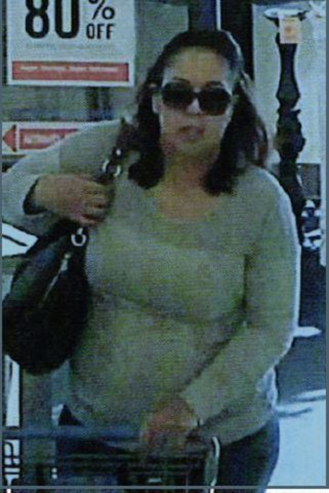 Photo -  Summer Thyme Creel is shown in this 2017 image from a surveillance video at a Hobby Lobby in Midwest City, where she passed a counterfeit check. [Photo provided]
