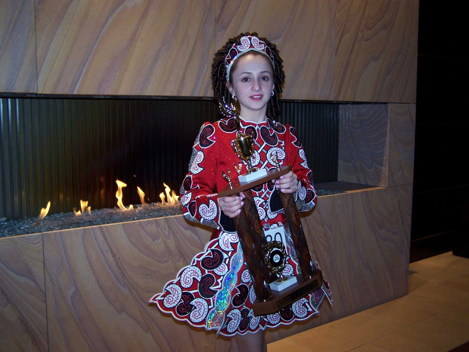 Olivia Cavazos, 6th grade Western Oaks Middle School, placed 1st in Championship competition at the Irish Arts Feis in St. Louis, Mo on 17 Feb 2007<br/><b>Community Photo By:</b> Mickey Cavazos<br/><b>Submitted By:</b> Mickey, Oklahoma City