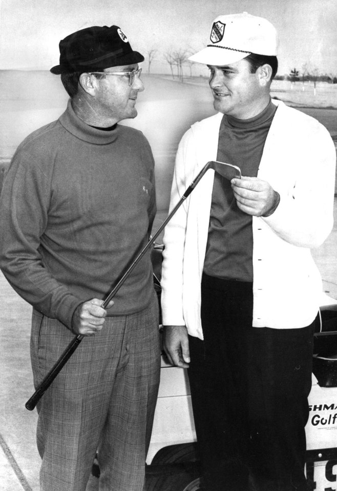 Oak Tree co-founders Ernie Vossler, left, and Joe Walser. Vossler passed away this week. Photo from The Oklahoman Archives