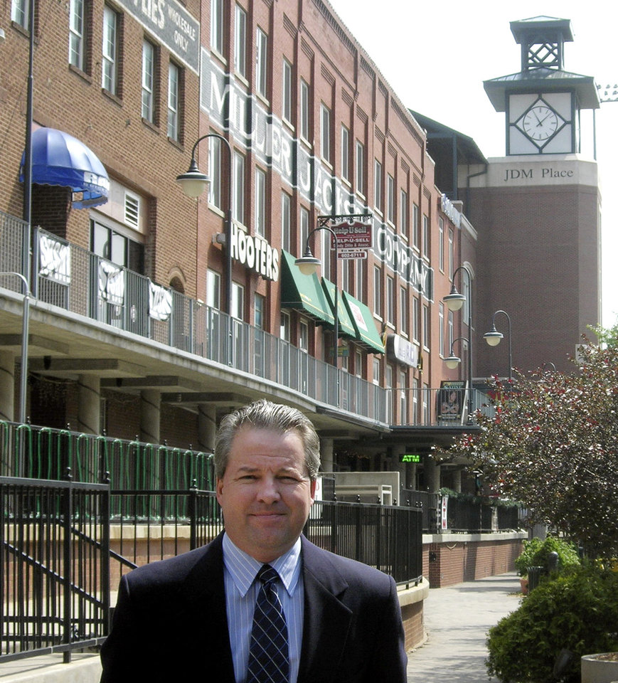 Photo - Jim Cowan named new director of Bricktown Association, in Oklahoma City, Friday, April 20, 2007. By Steve Lackmeyer, The Oklahoman  ORG XMIT: KOD