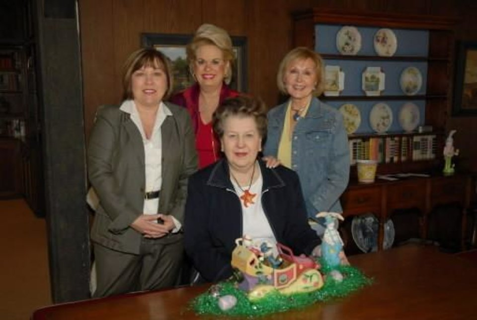 Left: Bonnie Naifeh, Patsy Homsey, Shirley Blaik, Marlene Mee. PHOTO BY JERRY HYMER, FOR THE OKLAHOMAN