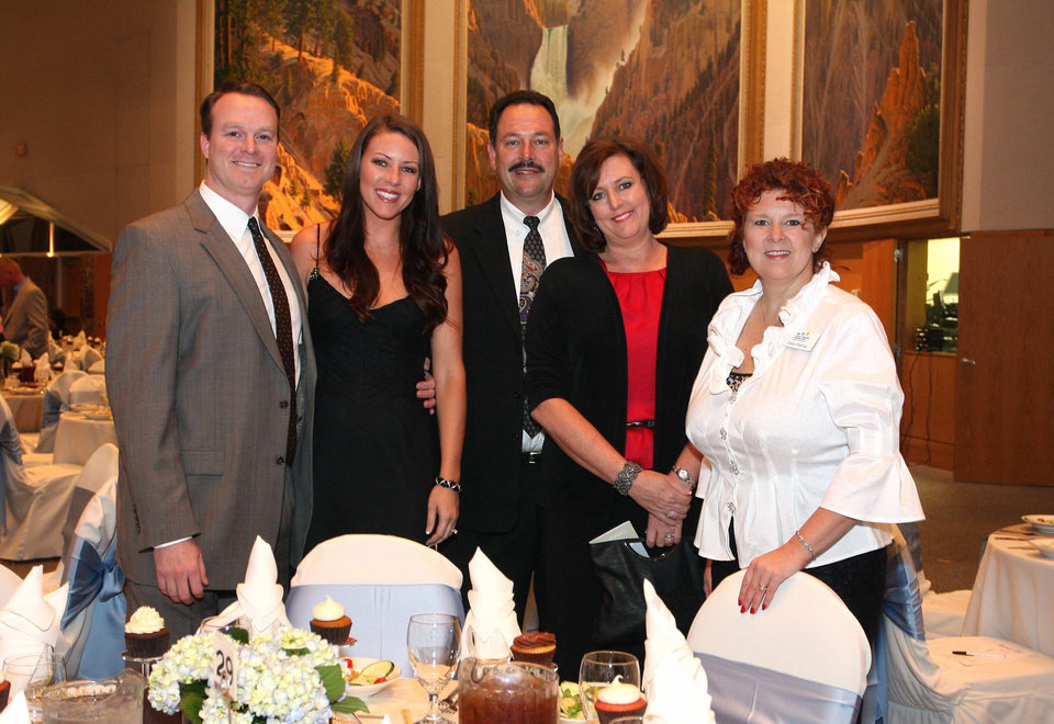 Photo - Doug and Audra Montgomery, Doug and Janet Tremaine, Celia Palmer. PHOTO BY DAVID FAYTINGER, FOR THE OKLAHOMAN