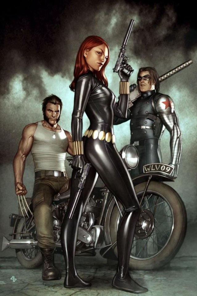 Photo - Wolverine, the Black Widow and the Winter Soldier on the cover of