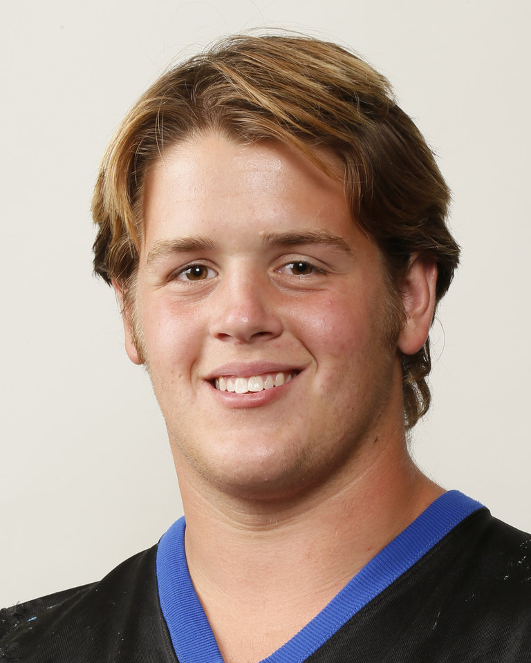 Photo - Austin Loomis, Deer Creek football player, poses for a mug shot during The Oklahoman's Fall High School Sports Photo Day in Oklahoma City, Wednesday, Aug. 15, 2012. Photo by Nate Billings, The Oklahoman