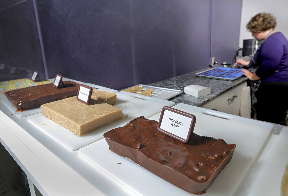 Photo -  An assortment of fudge at Sweet Prairie Home in Bethany. Photo by Jim Beckel, The Oklahoman   Jim Beckel -  THE OKLAHOMAN