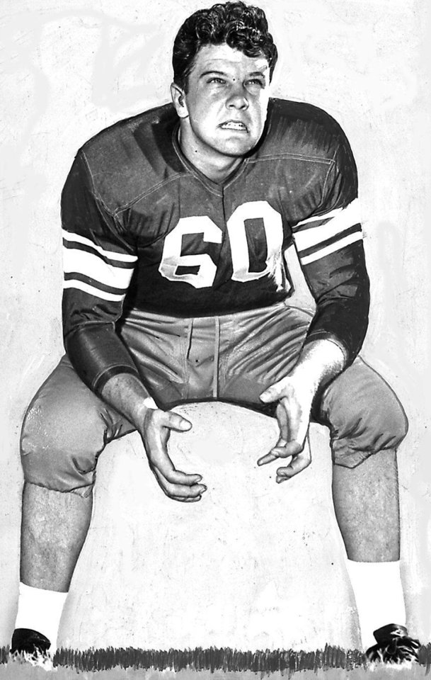 Photo - Wade Walker, 1949 All-America football tackle at OU. OKLAHOMAN ARCHIVE PHOTO