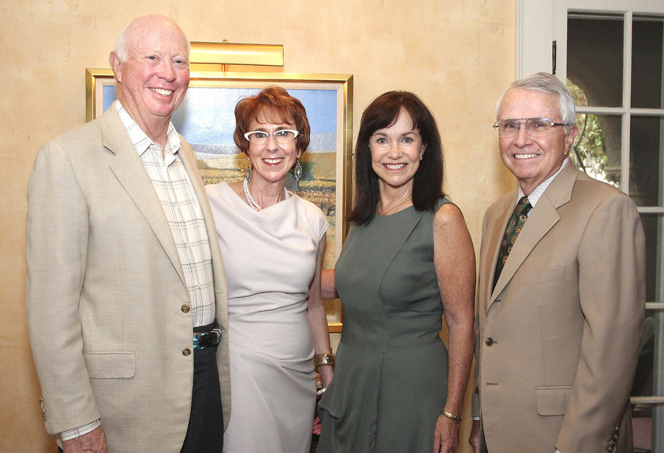 Photo - Henry Browne, Annie Bohanon, Connie and Gary Fuller. PHOTO BY DAVID FAYTINGER, FOR THE OKLAHOMAN
