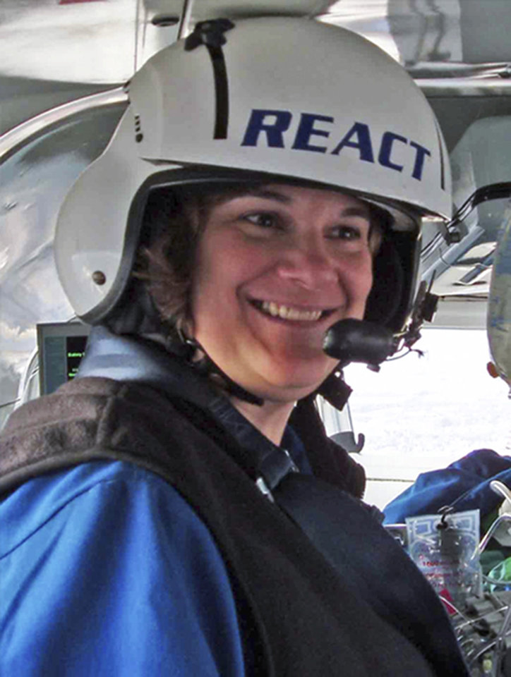 Photo - This undated photo provided by the Rockford Health System in Rockford, Ill., shows flight nurse Karen Hollis, 48. Hollis was one of three people killed when a Rockford Medical Center REACT helicopter crashed Monday night, Dec. 10, 2012, in a field near Rochelle, Ill., while traveling between two northern Illinois hospitals. No patients were aboard when the helicopter went down. (AP Photo/Courtesy of the Rockford Heath System)