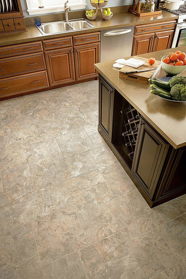 The look of stone continues to be a design favorite, and Armstrong's Alterna Mesa Stone is designed to be an alternative to ceramic and stone tiles.