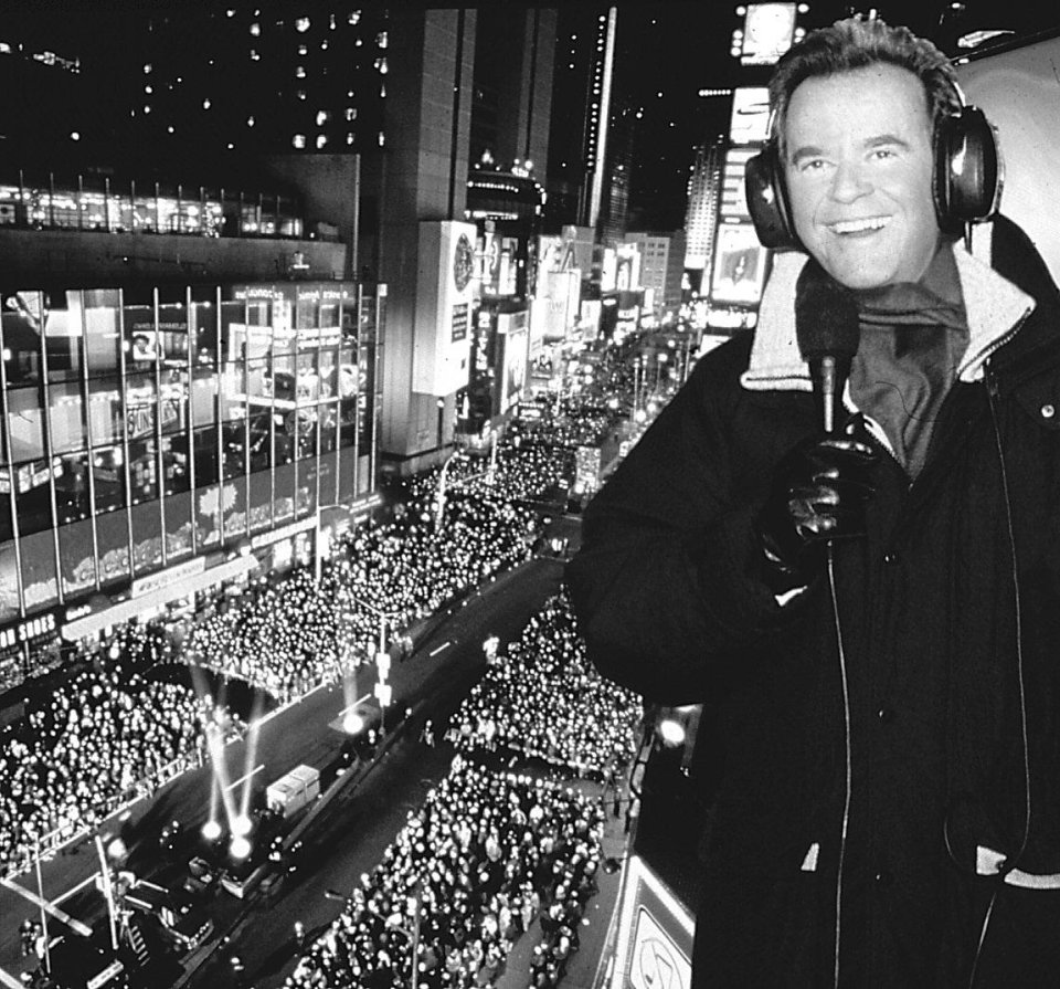 "Dick Clark, host of ""Dick Clark's New Year's Eve Live"""