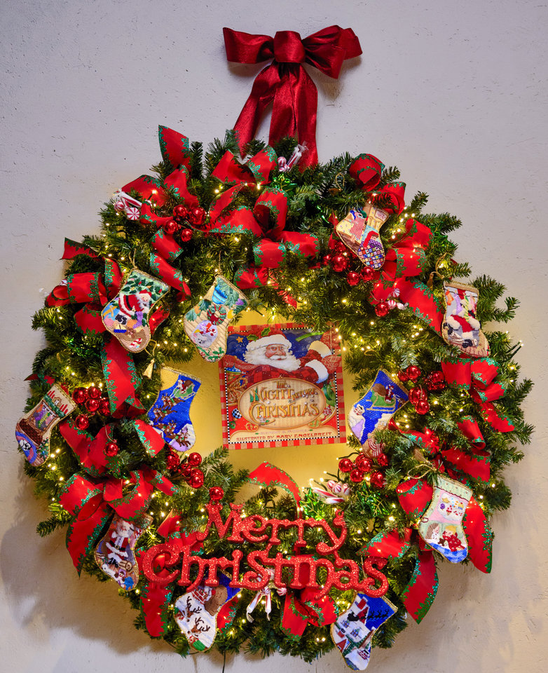"Photo -   ""The Night Before Christmas"" wreath  [PHOTO BY CHRIS LANDSBERGER, THE OKLAHOMAN]"