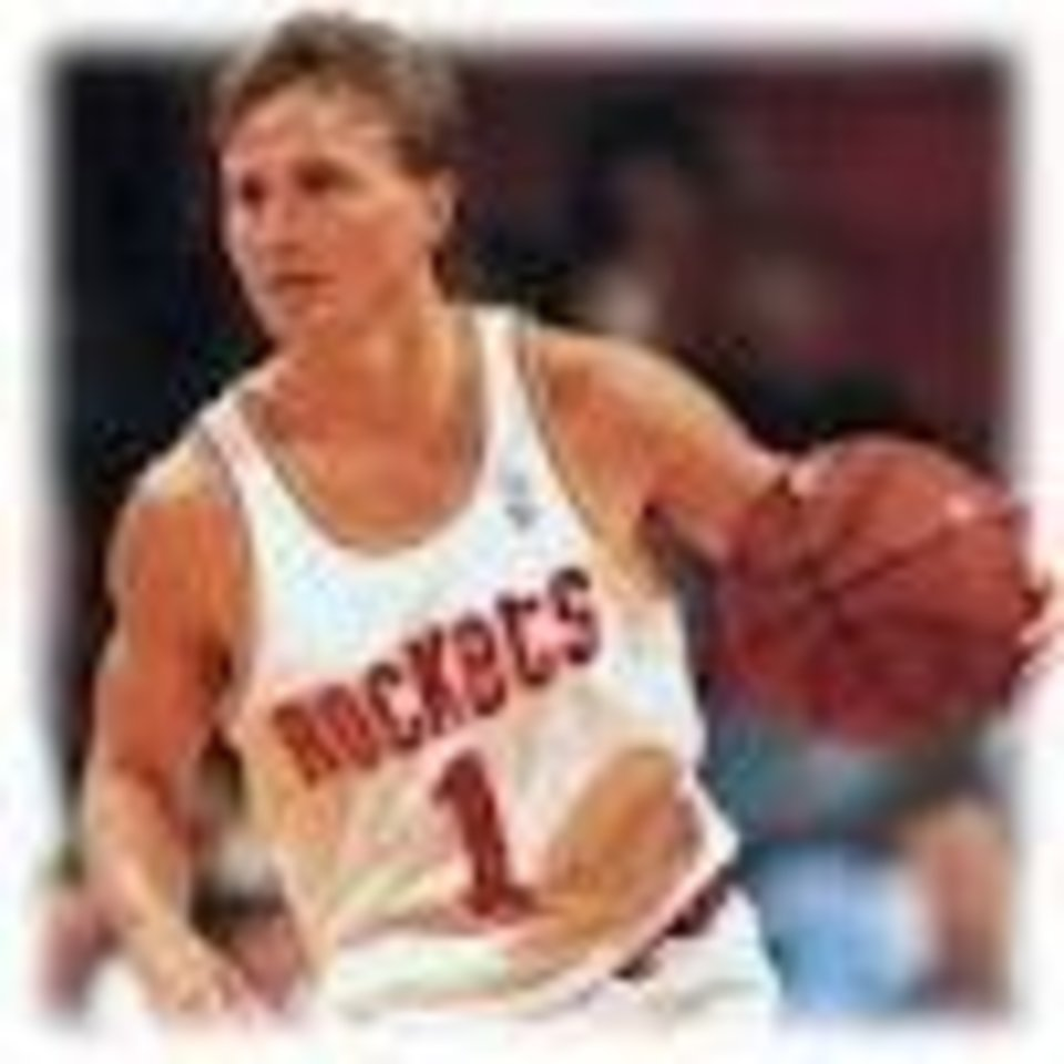 Photo -  Thunder coach Scott Brooks, as a point guard with the Houston Rockets in the mid-1990s.