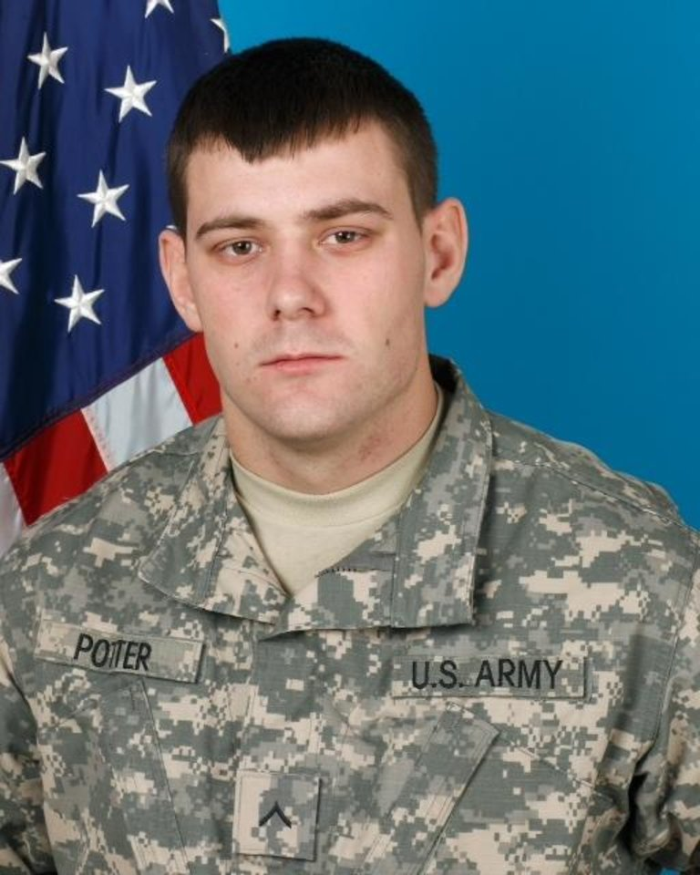 Photo - MILITARY / SOLDIER / DEATH / OKLAHOMA ARMY NATIONAL GUARD / OKLAHOMAN / AFGHANISTAN / PFC TONY POTTER: Pfc. Tony J. Potter Jr., 20, of Okmulgee        ORG XMIT: 1109112221138128
