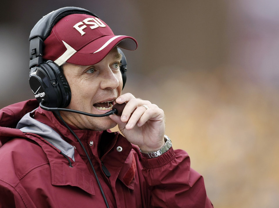 Jimbo Fisher waited his turn before taking over at Florida State. AP photo