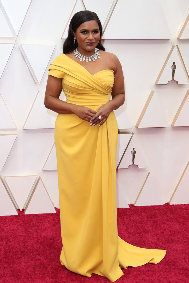 Photo - Feb 9, 2020; Los Angeles, CA, USA;  Mindy Kaling arrives at the 92nd Academy Awards at Dolby Theatre. Mandatory Credit: Dan MacMedan-USA TODAY